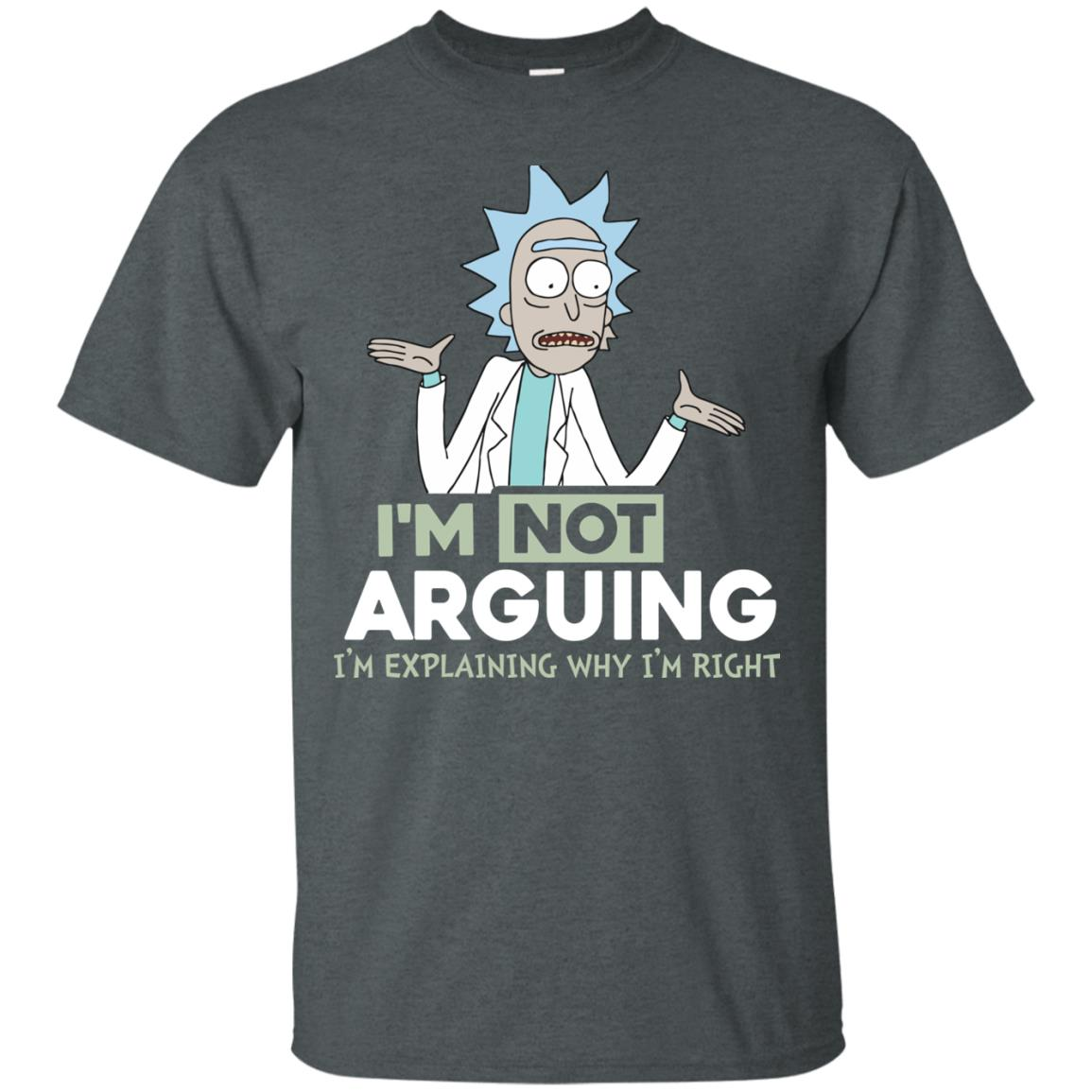 image 13px Rick and Morty: I'm Not Arguing I'm Explaining Why I'm Right T Shirts, Hoodies, Tank