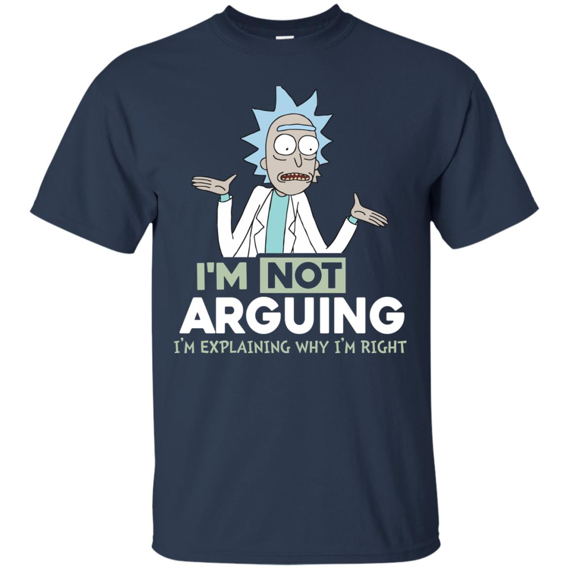 image 14px Rick and Morty: I'm Not Arguing I'm Explaining Why I'm Right T Shirts, Hoodies, Tank