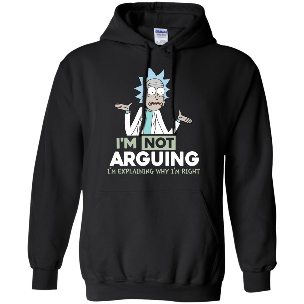 image 15px Rick and Morty: I'm Not Arguing I'm Explaining Why I'm Right T Shirts, Hoodies, Tank