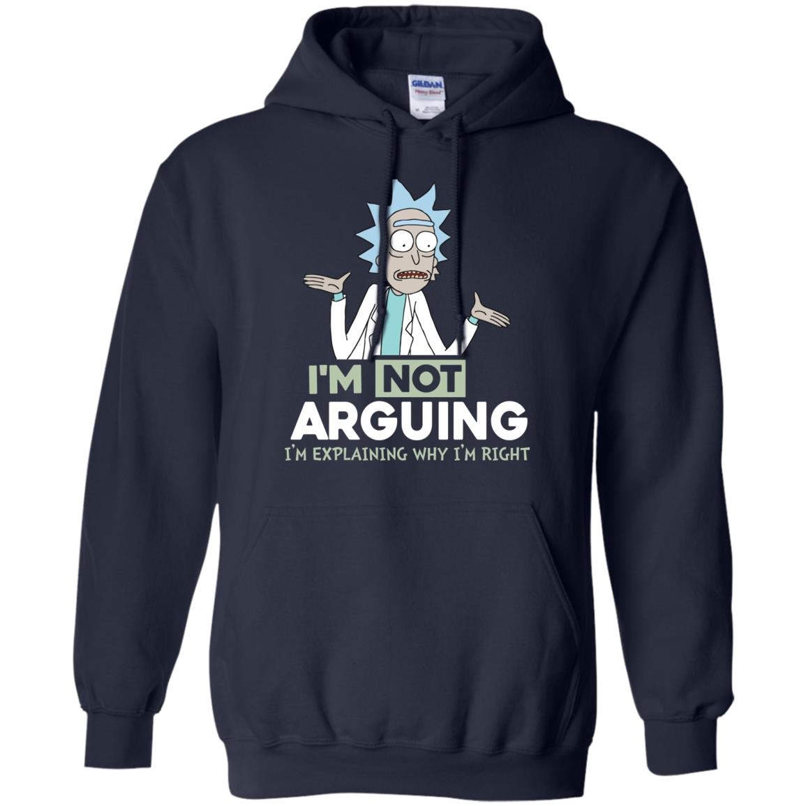 image 16px Rick and Morty: I'm Not Arguing I'm Explaining Why I'm Right T Shirts, Hoodies, Tank
