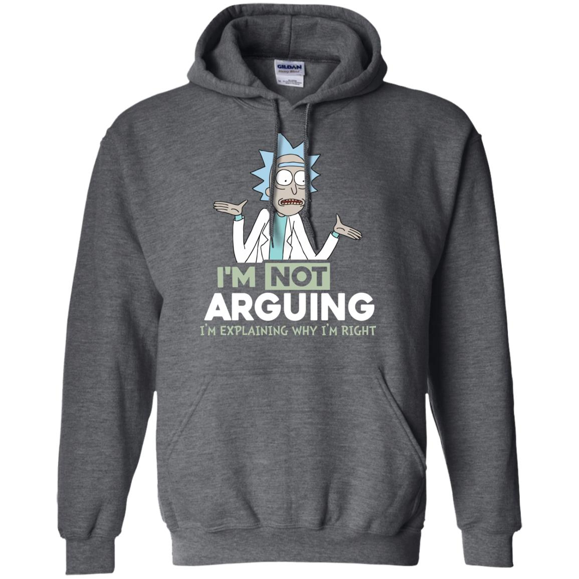 image 17px Rick and Morty: I'm Not Arguing I'm Explaining Why I'm Right T Shirts, Hoodies, Tank