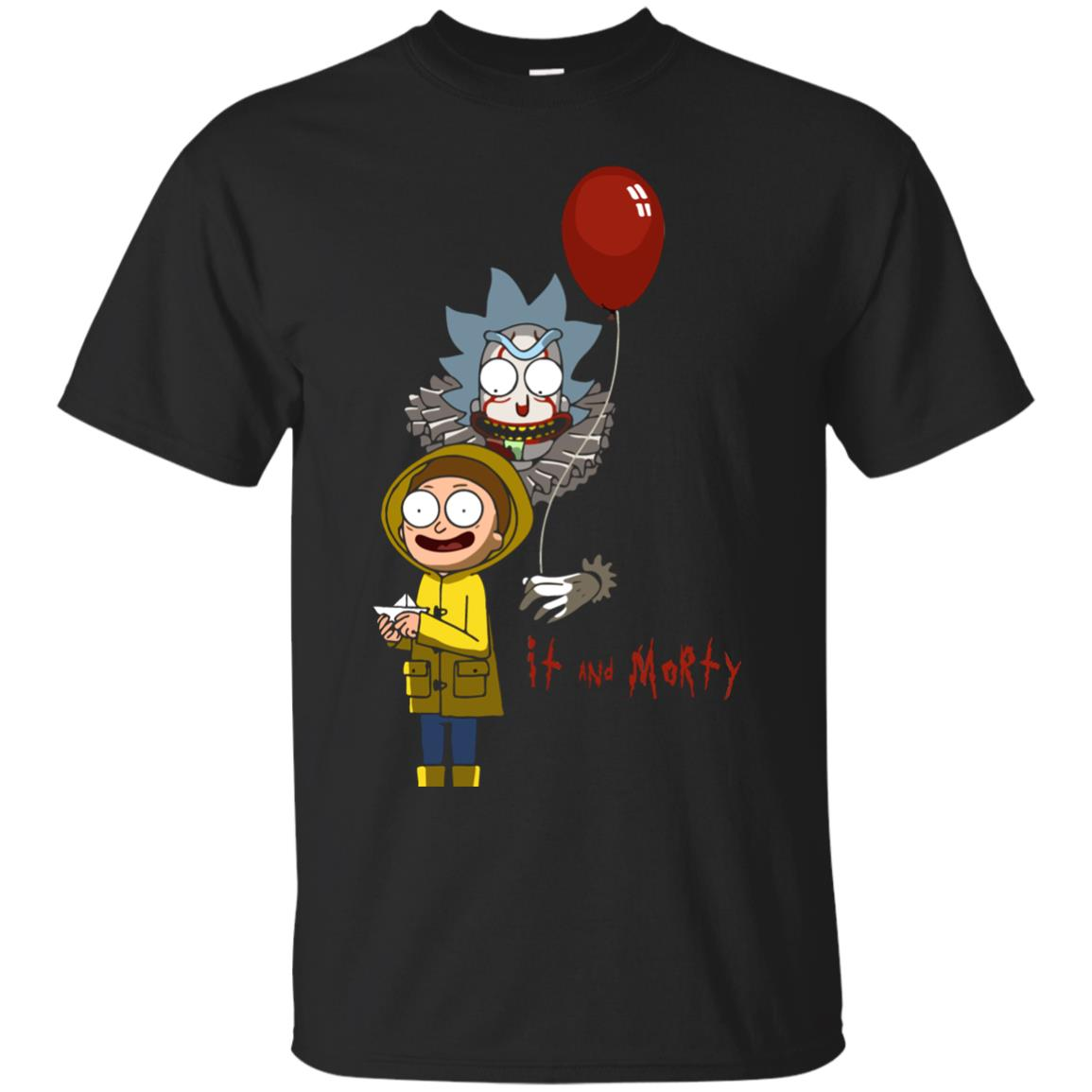 image 173px It and Morty Rick and Morty ft IT Movies T Shirts, Hoodies, Tank Top
