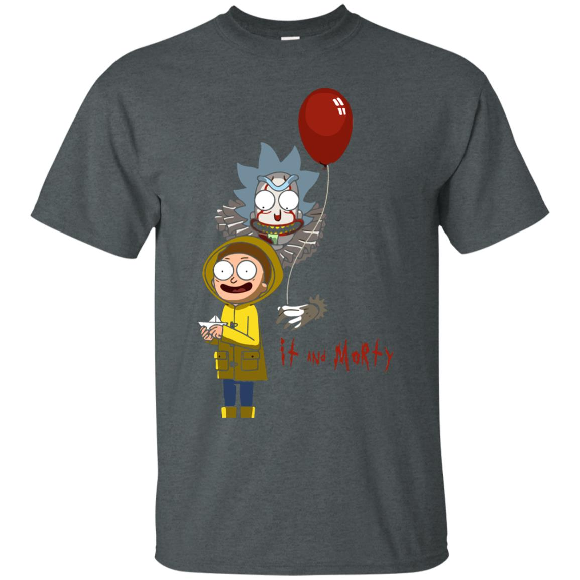 image 174px It and Morty Rick and Morty ft IT Movies T Shirts, Hoodies, Tank Top