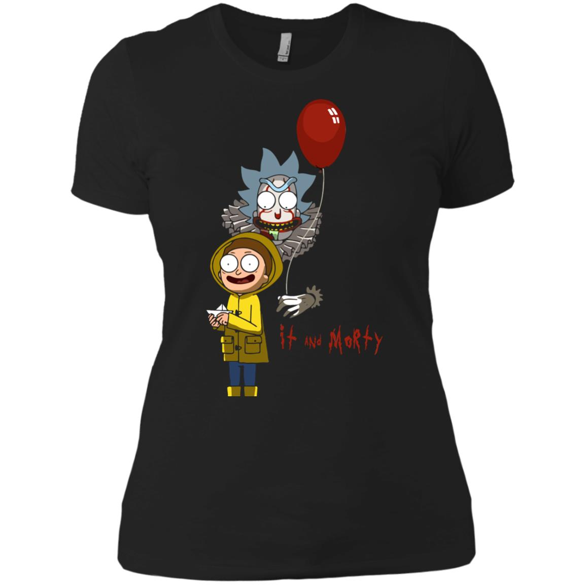 image 179px It and Morty Rick and Morty ft IT Movies T Shirts, Hoodies, Tank Top