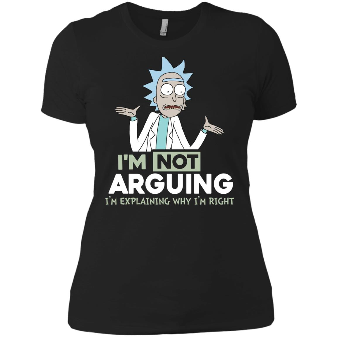 image 18px Rick and Morty: I'm Not Arguing I'm Explaining Why I'm Right T Shirts, Hoodies, Tank