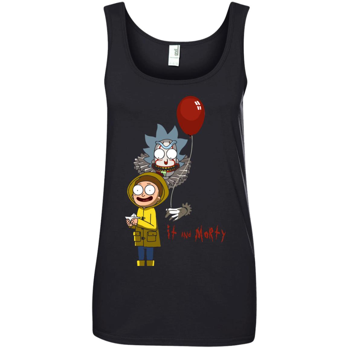 image 182px It and Morty Rick and Morty ft IT Movies T Shirts, Hoodies, Tank Top