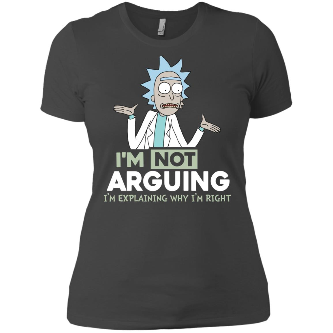 image 19px Rick and Morty: I'm Not Arguing I'm Explaining Why I'm Right T Shirts, Hoodies, Tank