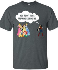 image 211 247x296px Wonder Woman vs Disney princes You've got to be freaking kidding me t shirts, hoodies, tank