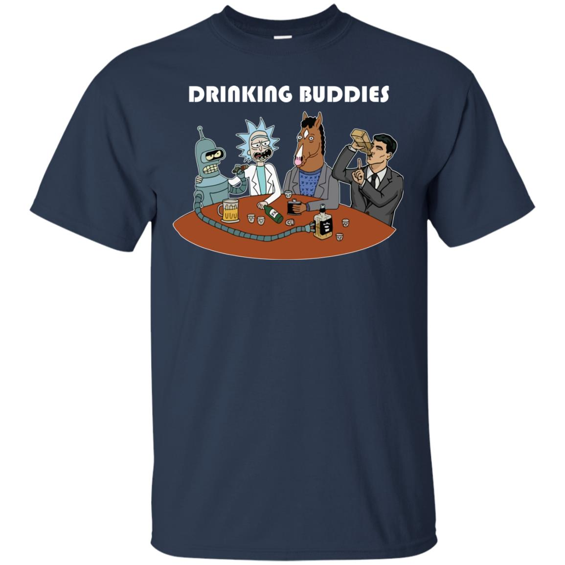 image 36px Drinking Buddies with Rick and Morty's Szechuan sauce, Ailen drinking T Shirts, Hoodies