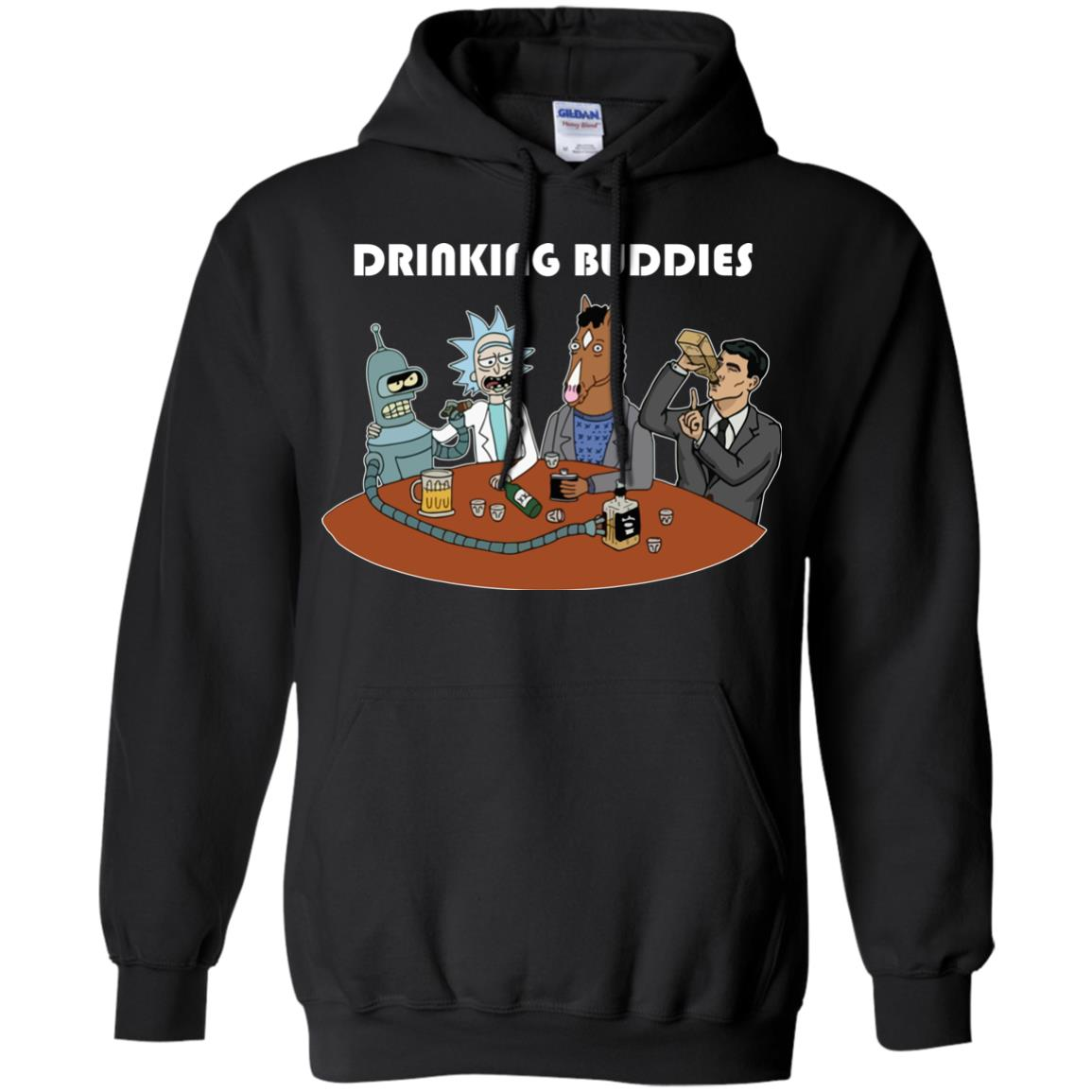 image 37px Drinking Buddies with Rick and Morty's Szechuan sauce, Ailen drinking T Shirts, Hoodies