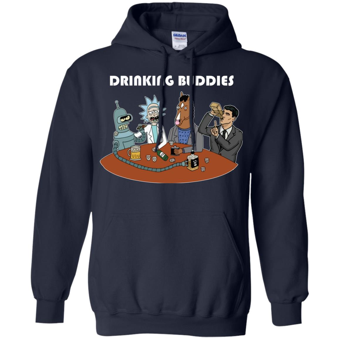 image 38px Drinking Buddies with Rick and Morty's Szechuan sauce, Ailen drinking T Shirts, Hoodies