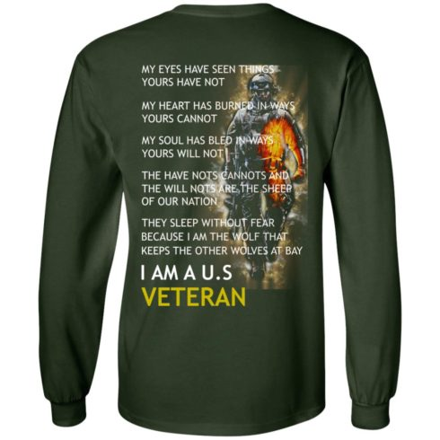 image 4 490x490px I am a US Veteran my eyes have seen things yours have not back side t shirt, hoodies
