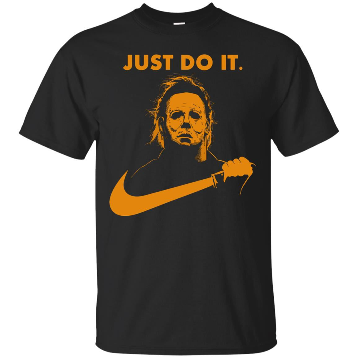 image 404px Michael Myers Halloween Just Do It [Orange Version] T Shirts, Hoodies
