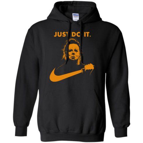 image 407 490x490px Michael Myers Halloween Just Do It [Orange Version] T Shirts, Hoodies