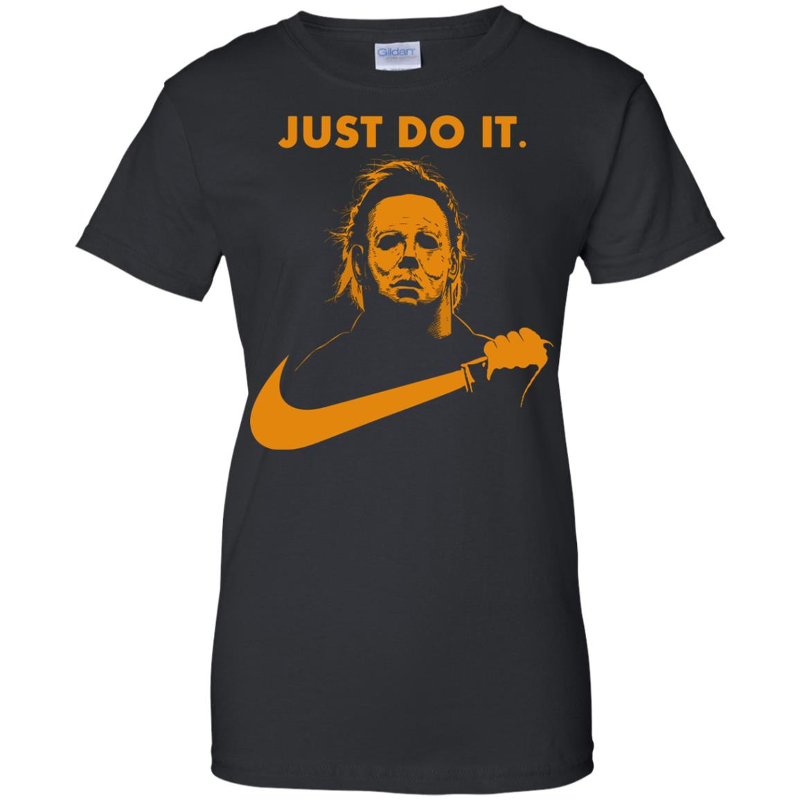 image 414px Michael Myers Halloween Just Do It [Orange Version] T Shirts, Hoodies