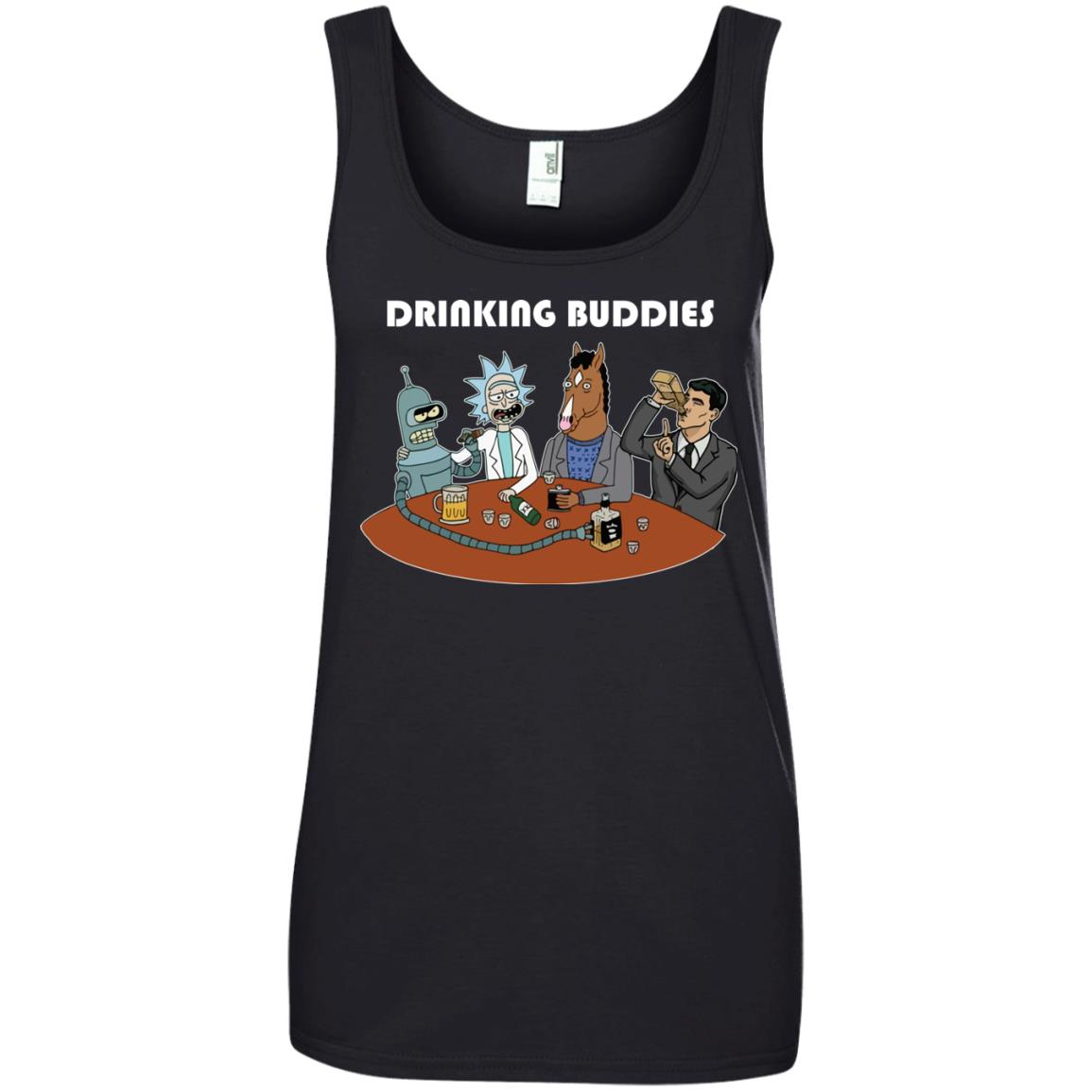 image 43px Drinking Buddies with Rick and Morty's Szechuan sauce, Ailen drinking T Shirts, Hoodies