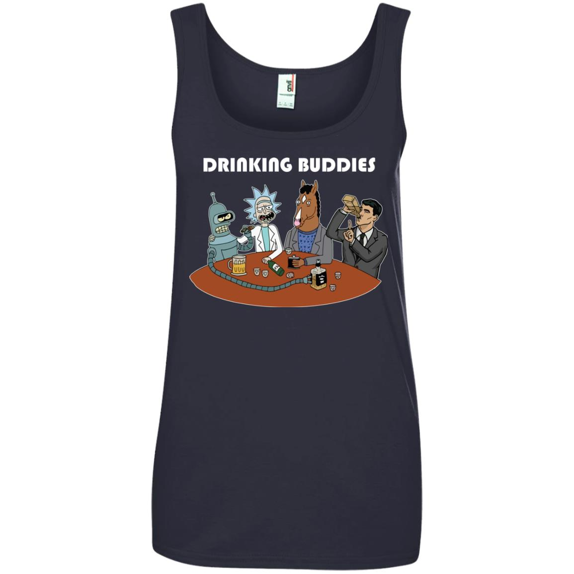 image 44px Drinking Buddies with Rick and Morty's Szechuan sauce, Ailen drinking T Shirts, Hoodies