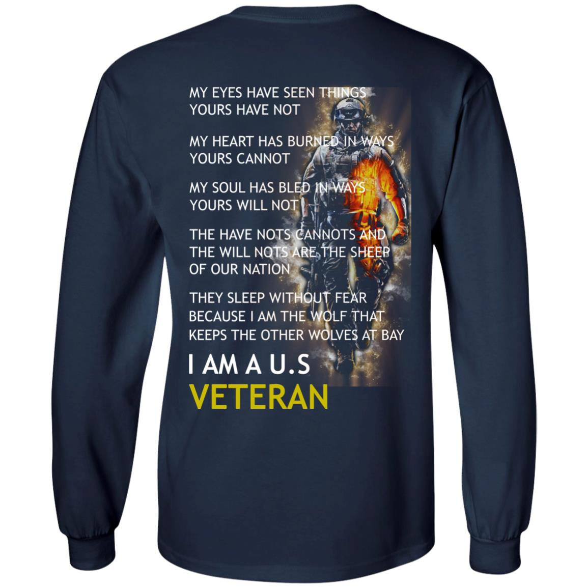 image 5px I am a US Veteran my eyes have seen things yours have not back side t shirt, hoodies