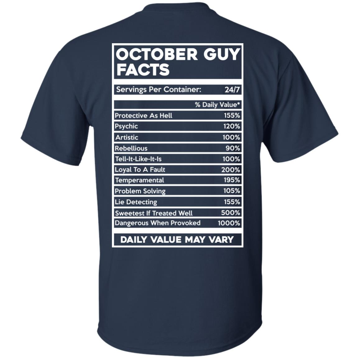 image 619px October Guy Facts Servings Per Container 24/7 T Shirts, Hoodies, Tank Top