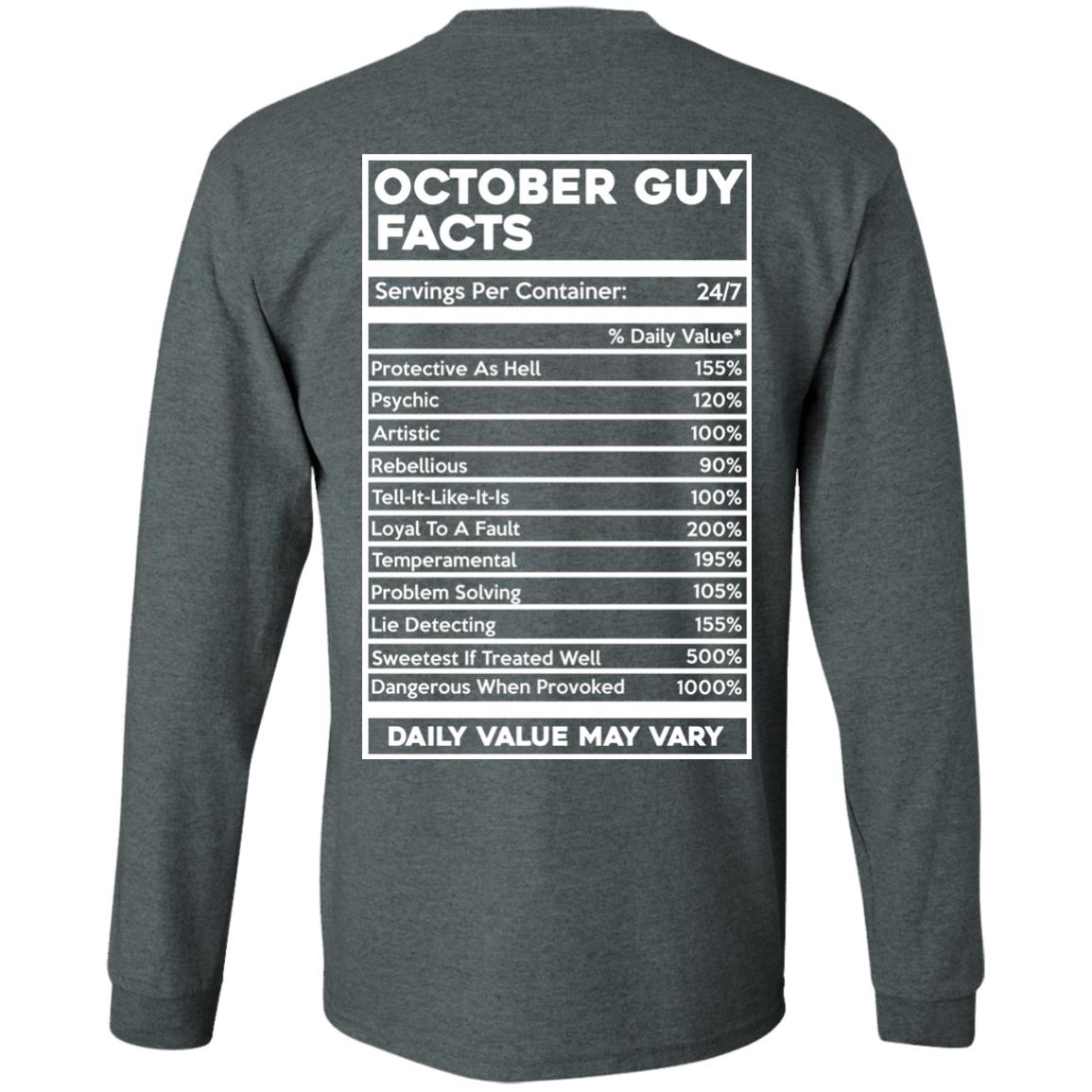 image 622px October Guy Facts Servings Per Container 24/7 T Shirts, Hoodies, Tank Top