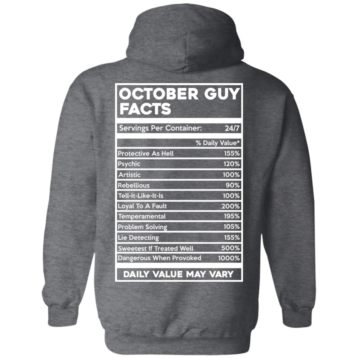 image 625px October Guy Facts Servings Per Container 24/7 T Shirts, Hoodies, Tank Top