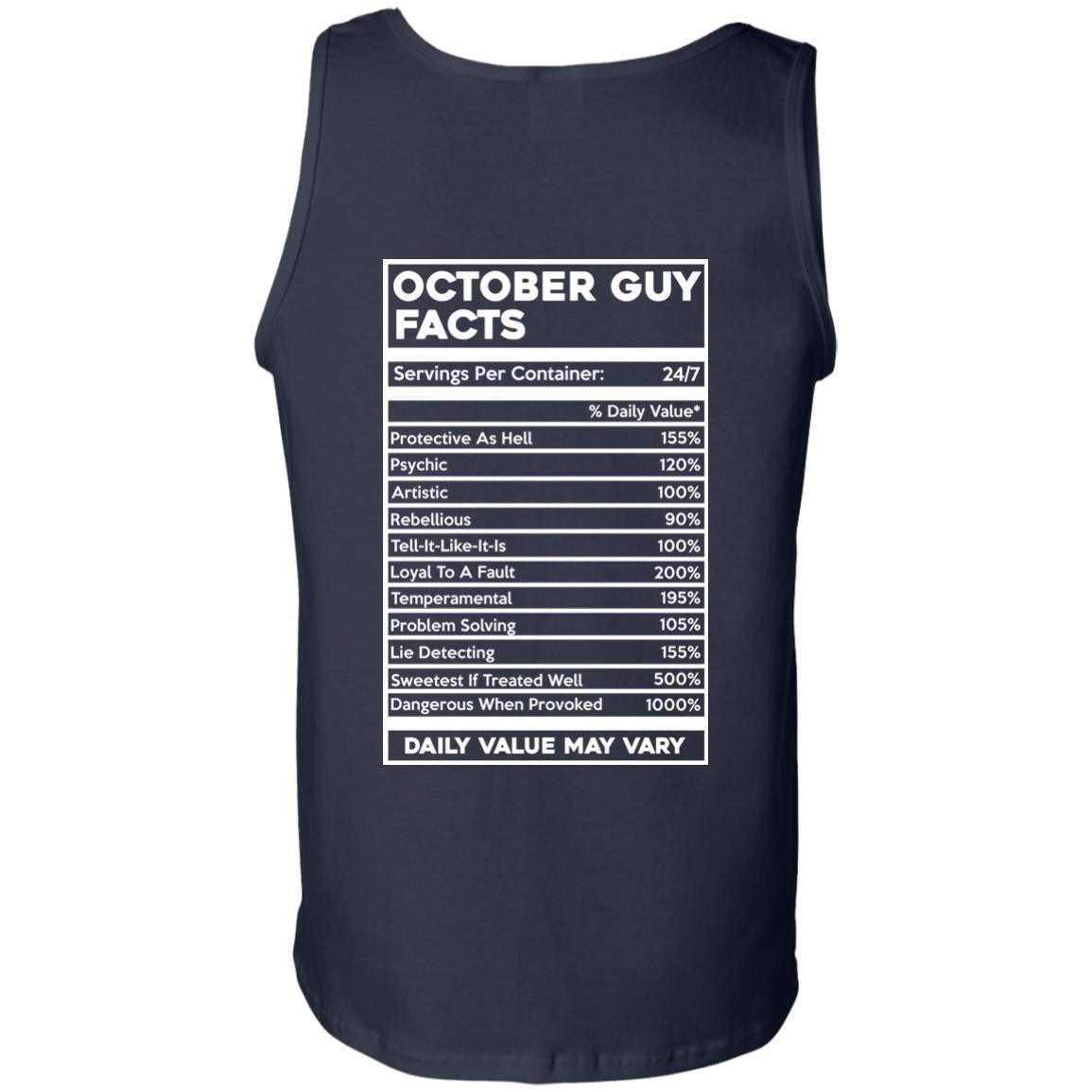 image 627px October Guy Facts Servings Per Container 24/7 T Shirts, Hoodies, Tank Top