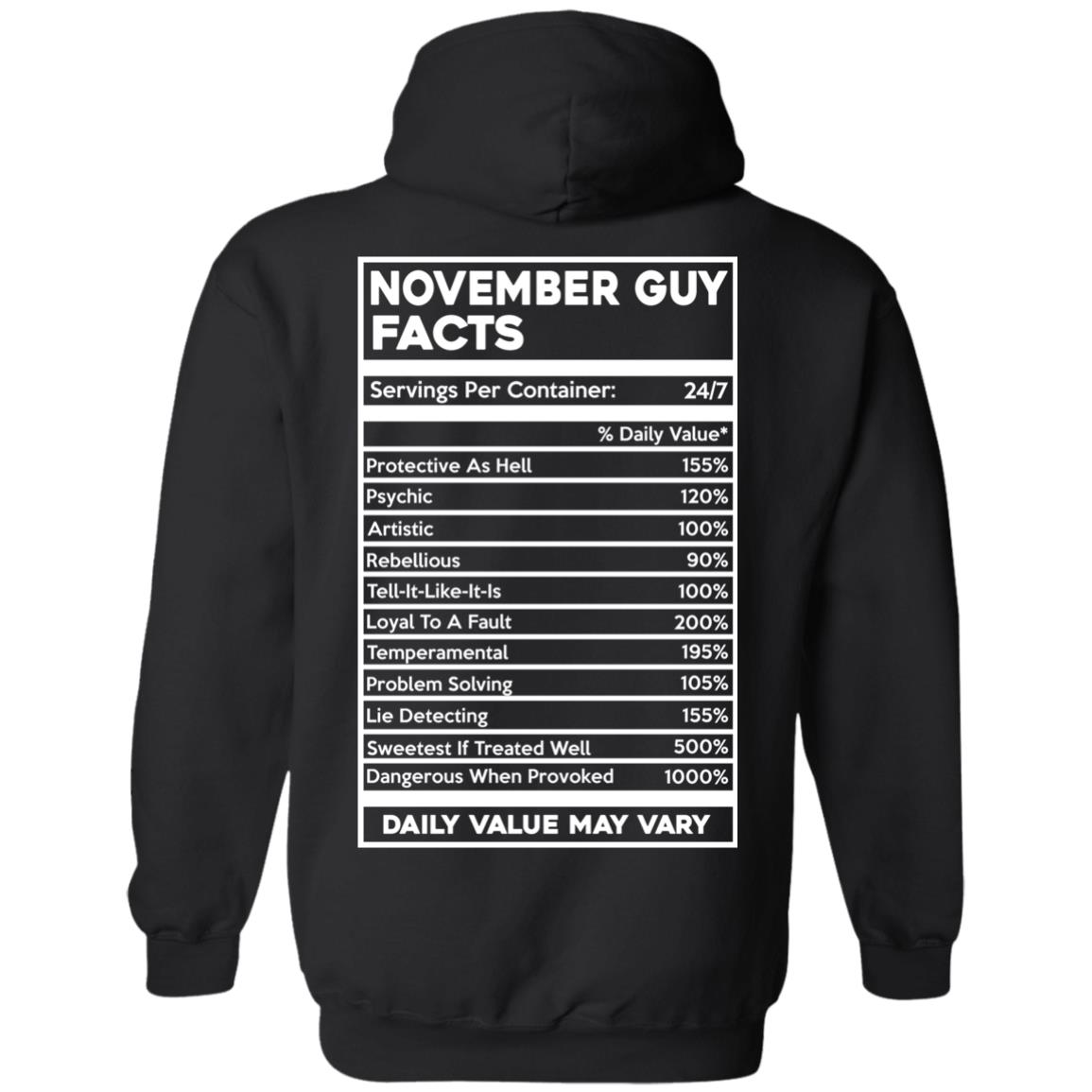 image 635px November Guy Facts Servings Per Container 24/7 T Shirts