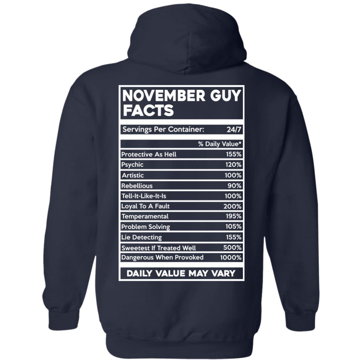 image 636px November Guy Facts Servings Per Container 24/7 T Shirts