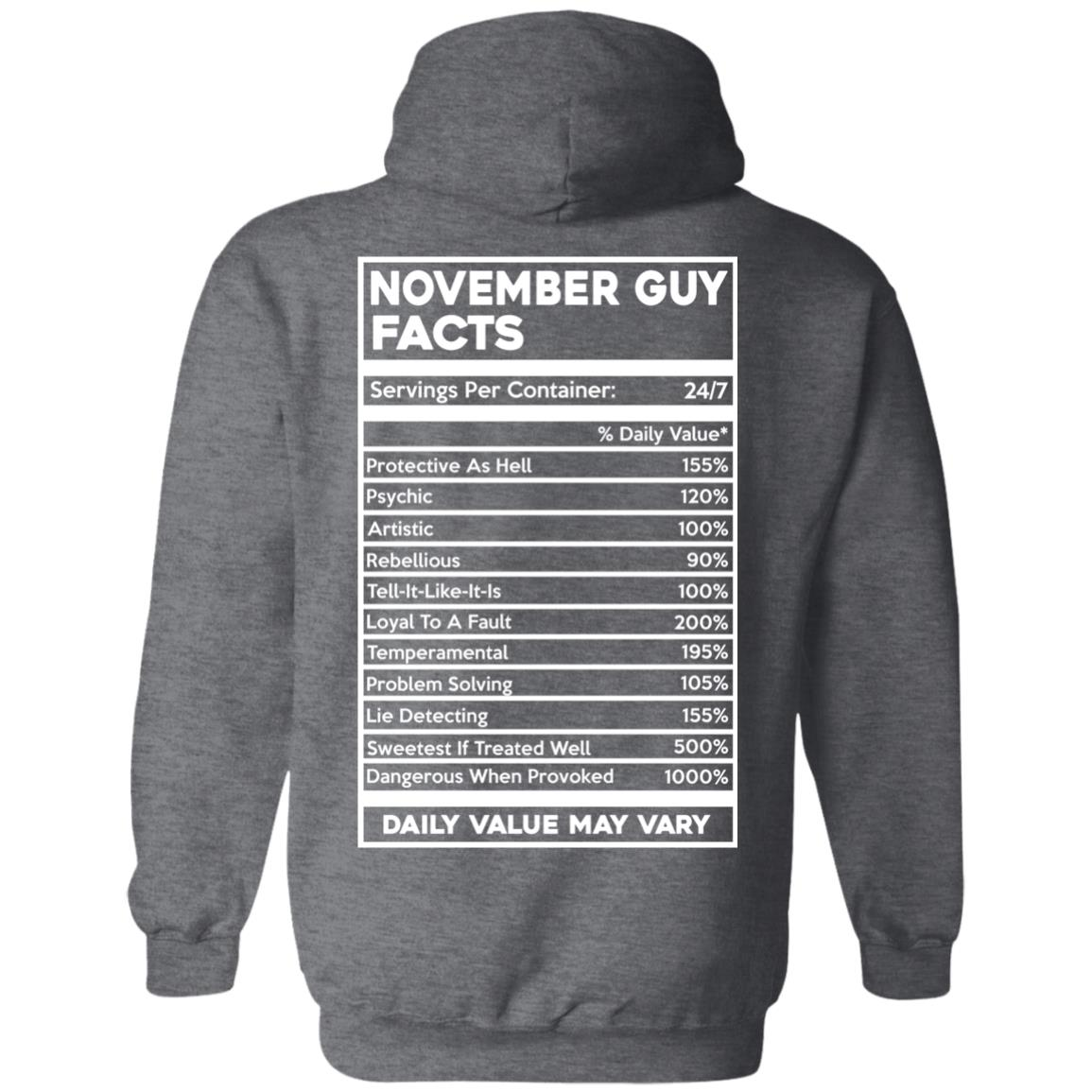 image 637px November Guy Facts Servings Per Container 24/7 T Shirts