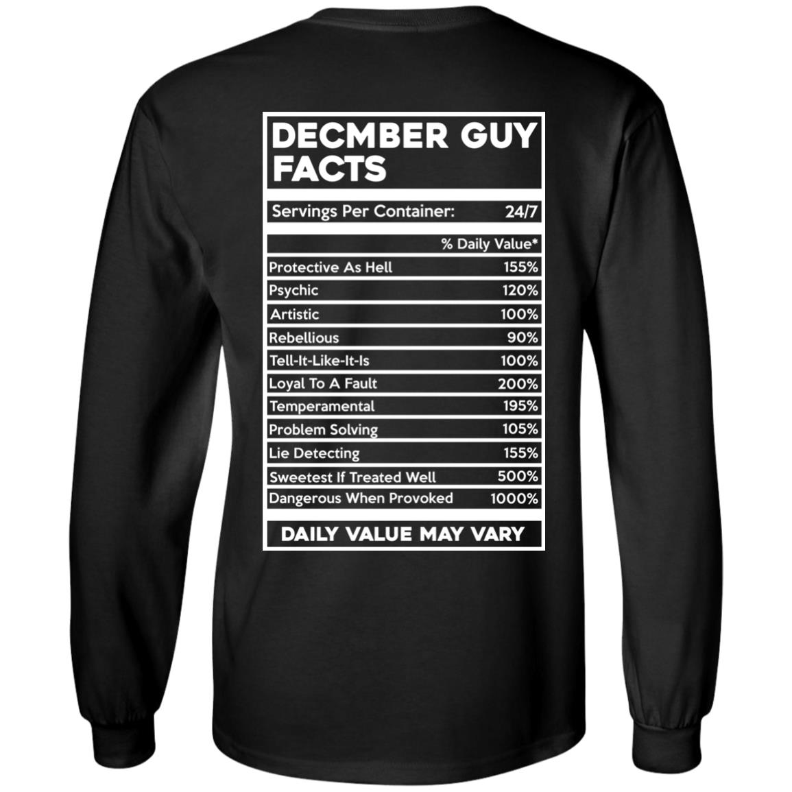 image 644px December Guy Facts Servings Per Container 24/7 T Shirts