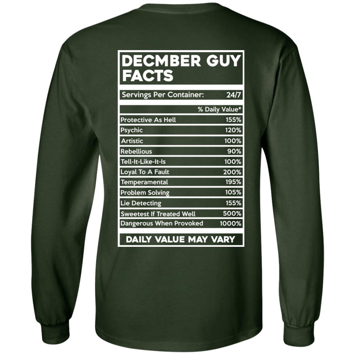 image 645px December Guy Facts Servings Per Container 24/7 T Shirts