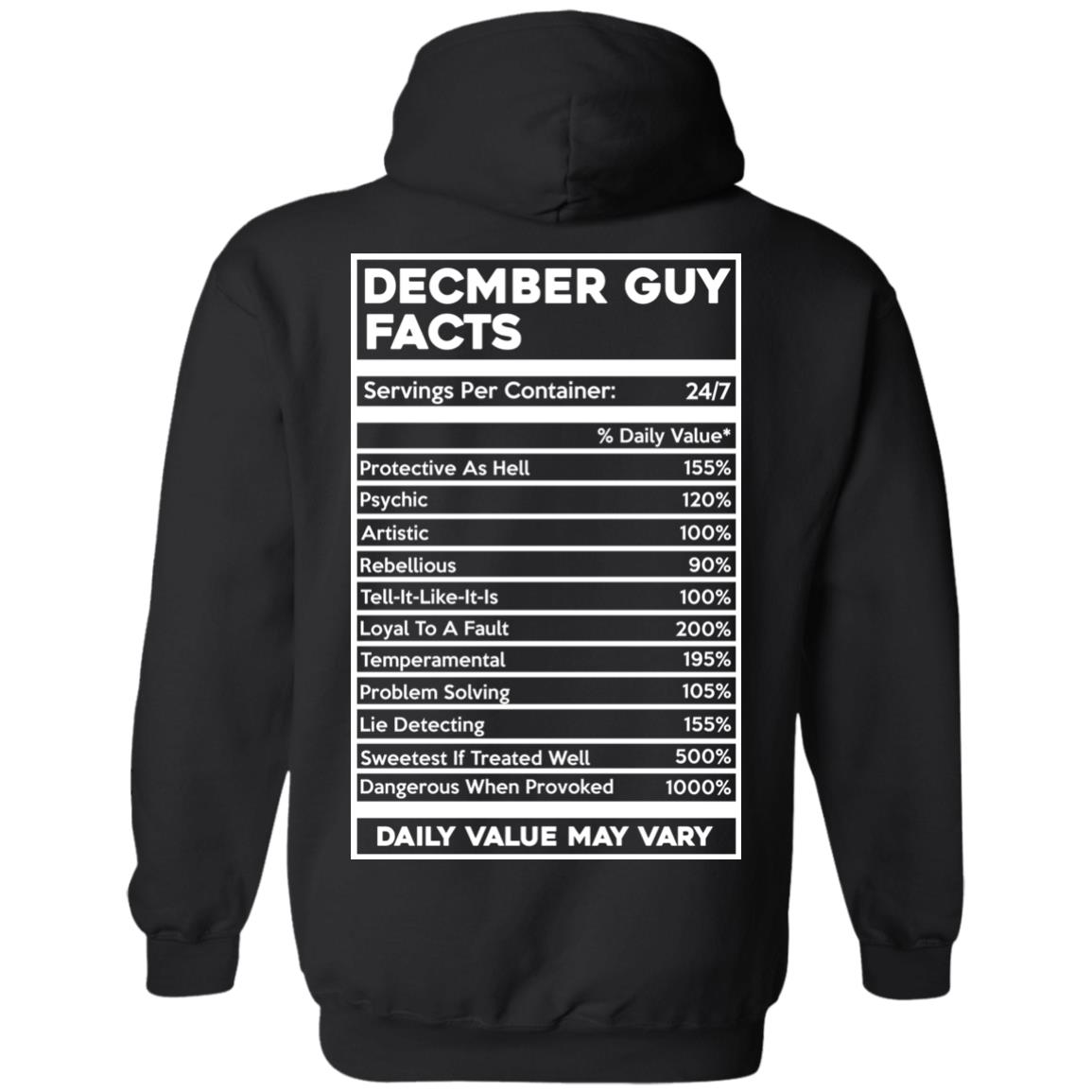 image 647px December Guy Facts Servings Per Container 24/7 T Shirts