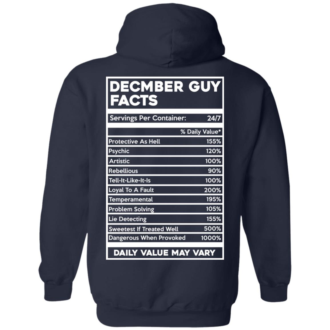 image 648px December Guy Facts Servings Per Container 24/7 T Shirts