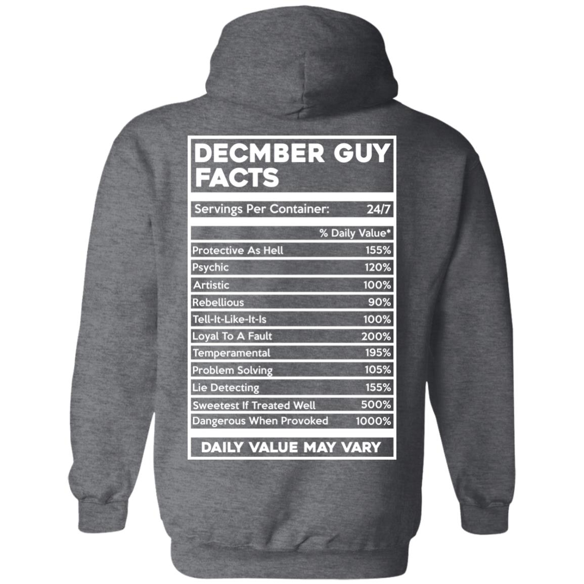 image 649px December Guy Facts Servings Per Container 24/7 T Shirts