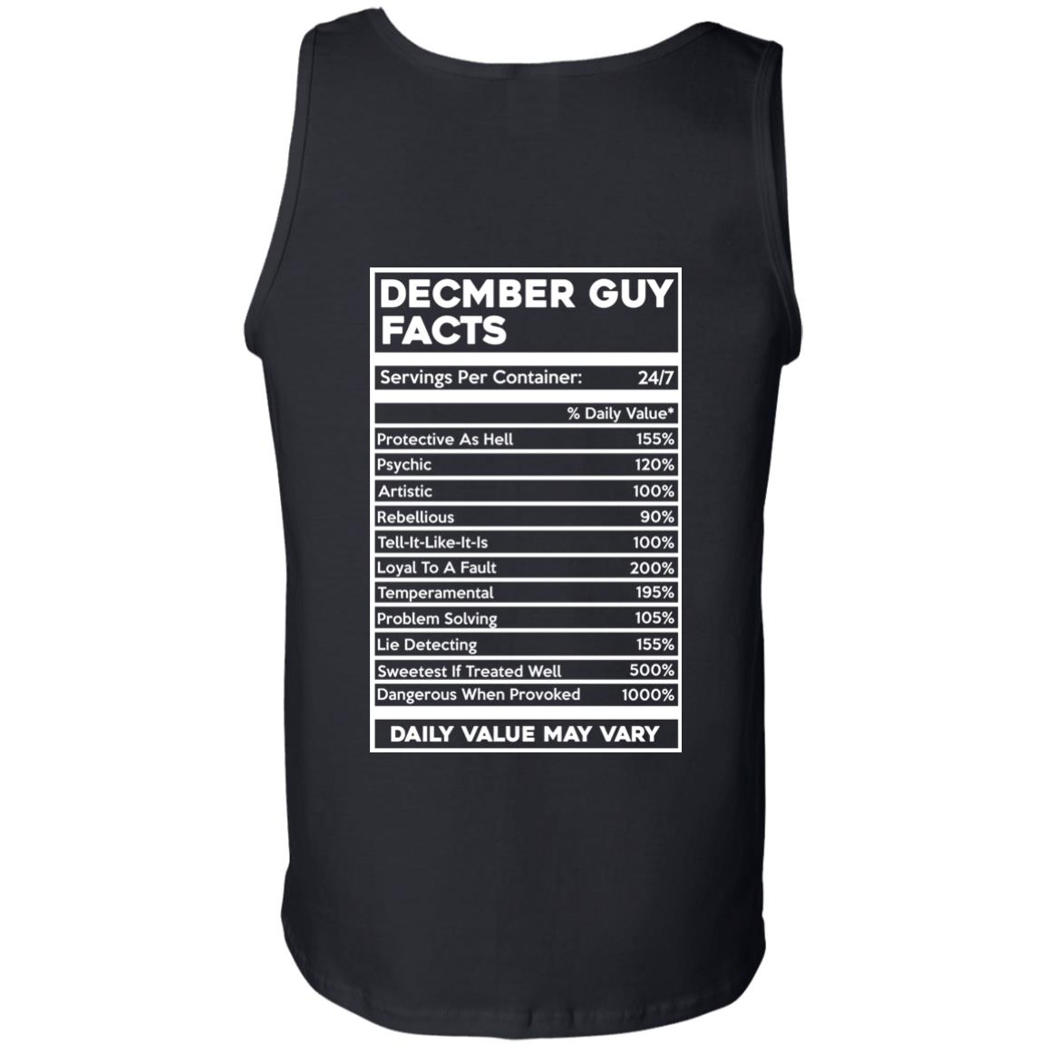 image 650px December Guy Facts Servings Per Container 24/7 T Shirts