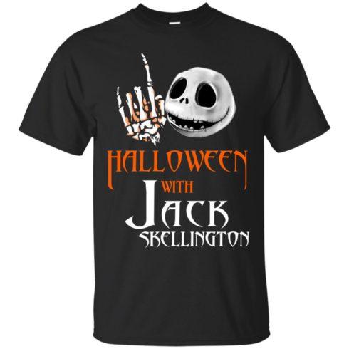 image 675 490x490px Halloween With Jack Skellington T Shirts, Hoodies, Tank