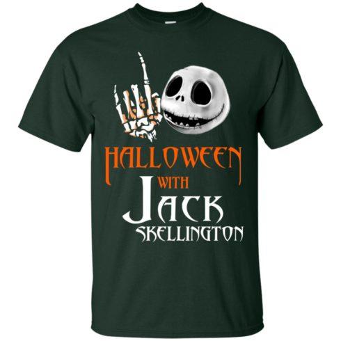 image 676 490x490px Halloween With Jack Skellington T Shirts, Hoodies, Tank