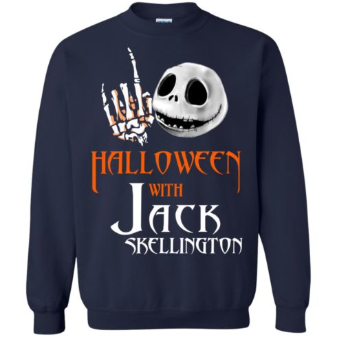 image 682 490x490px Halloween With Jack Skellington T Shirts, Hoodies, Tank
