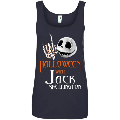 image 688 490x490px Halloween With Jack Skellington T Shirts, Hoodies, Tank