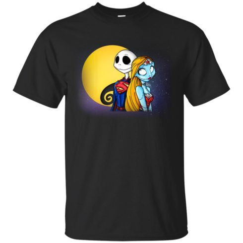 image 703 490x490px Halloween: SuperJack and WonderSally Nightmare Before Christmas T Shirts