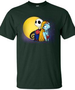 image 704 247x296px Halloween: SuperJack and WonderSally Nightmare Before Christmas T Shirts