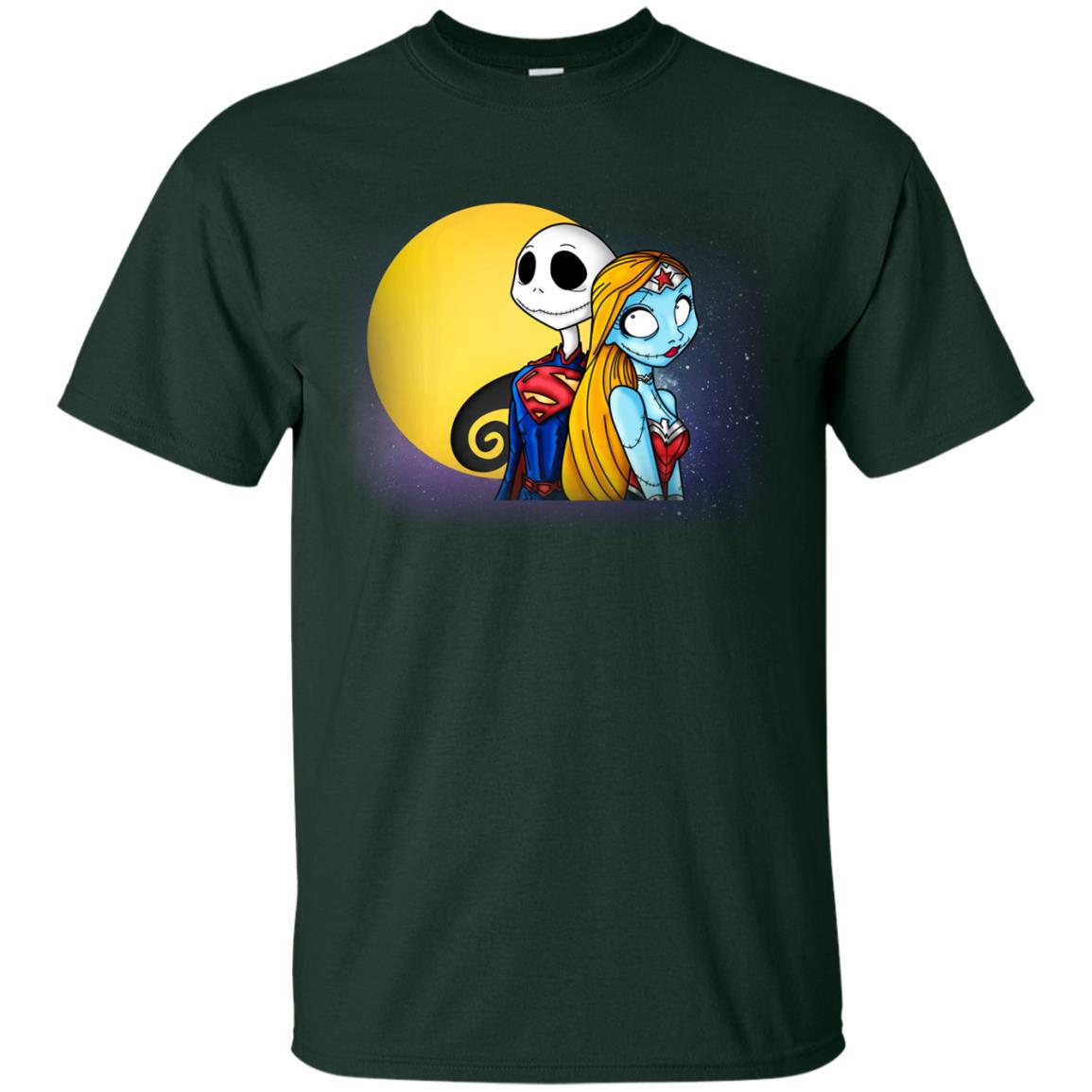 image 704px Halloween: SuperJack and WonderSally Nightmare Before Christmas T Shirts