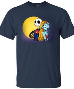 image 705 247x296px Halloween: SuperJack and WonderSally Nightmare Before Christmas T Shirts
