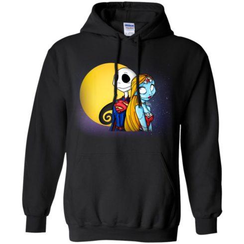 image 706 490x490px Halloween: SuperJack and WonderSally Nightmare Before Christmas T Shirts