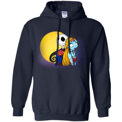 image 707 490x490px Halloween: SuperJack and WonderSally Nightmare Before Christmas T Shirts