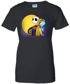 image 711 247x296px Halloween: SuperJack and WonderSally Nightmare Before Christmas T Shirts