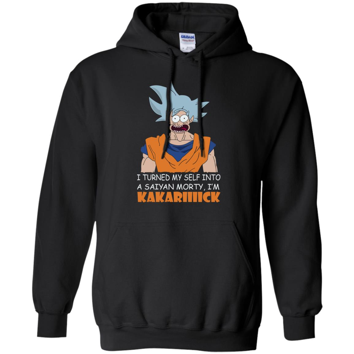 image 729px Goku and Morty: I Turned My Self Into A Saiyan Morty, I'm Kakariiiick T Shirts, Hoodies, Tank