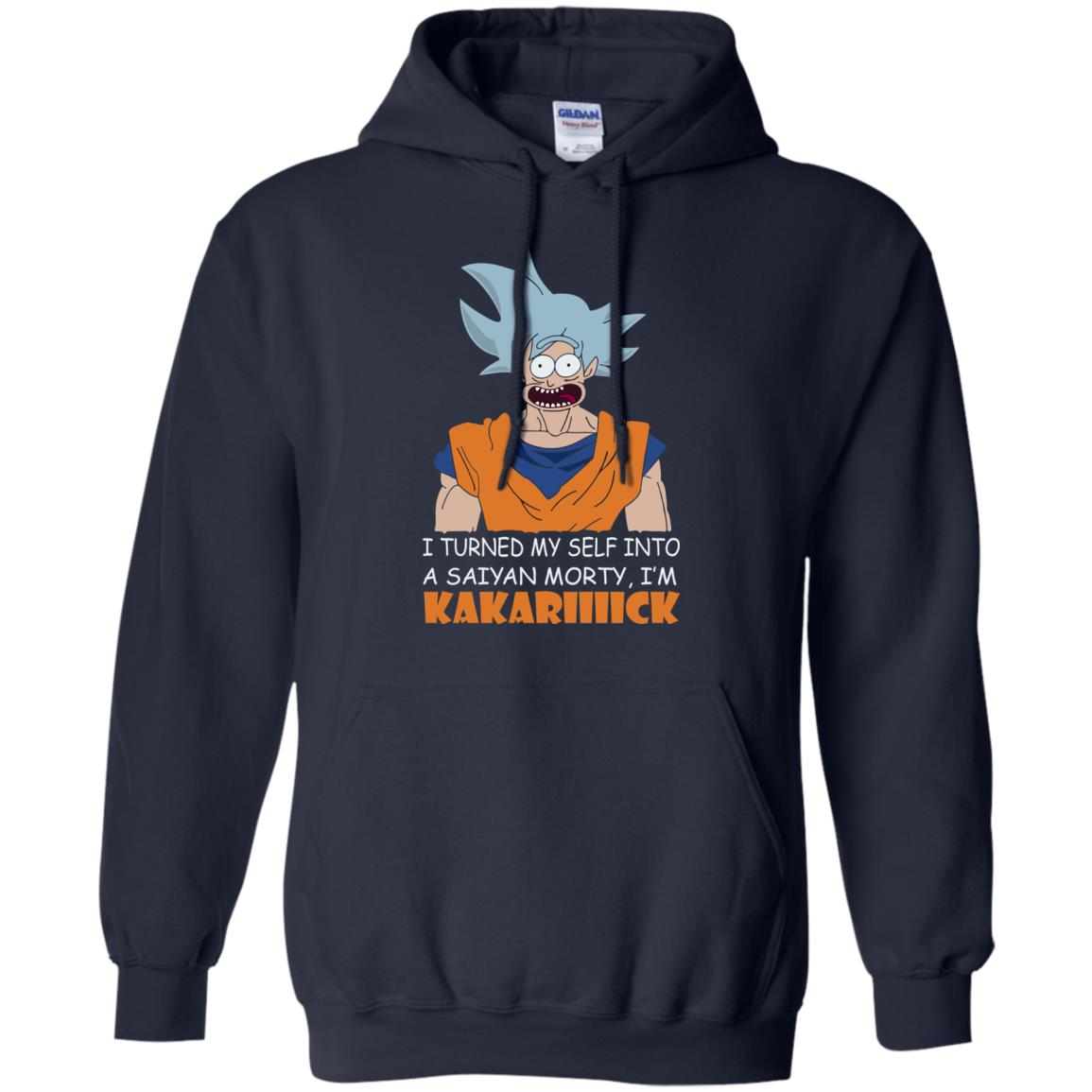 image 730px Goku and Morty: I Turned My Self Into A Saiyan Morty, I'm Kakariiiick T Shirts, Hoodies, Tank