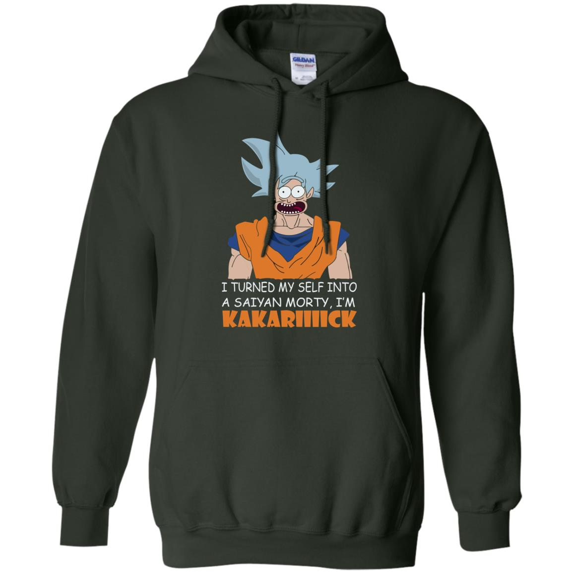 image 731px Goku and Morty: I Turned My Self Into A Saiyan Morty, I'm Kakariiiick T Shirts, Hoodies, Tank
