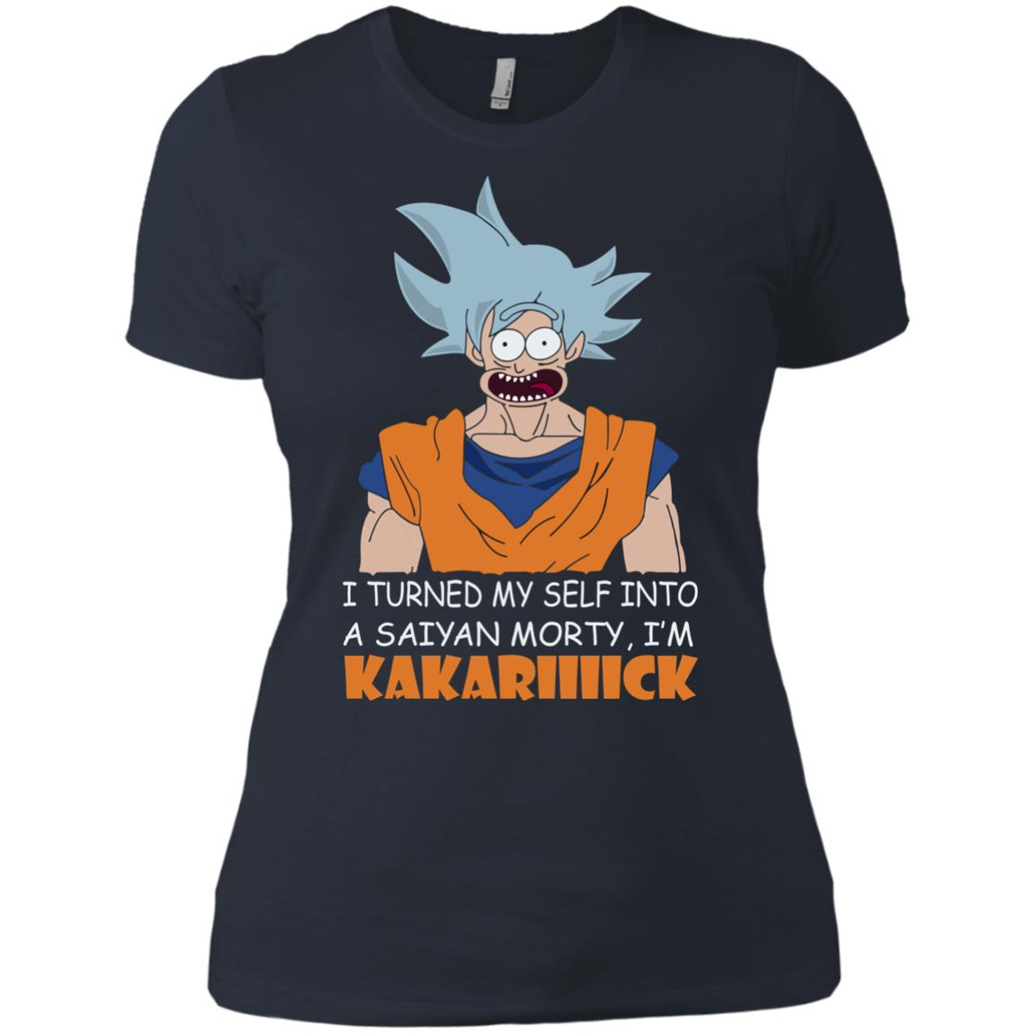 image 736px Goku and Morty: I Turned My Self Into A Saiyan Morty, I'm Kakariiiick T Shirts, Hoodies, Tank